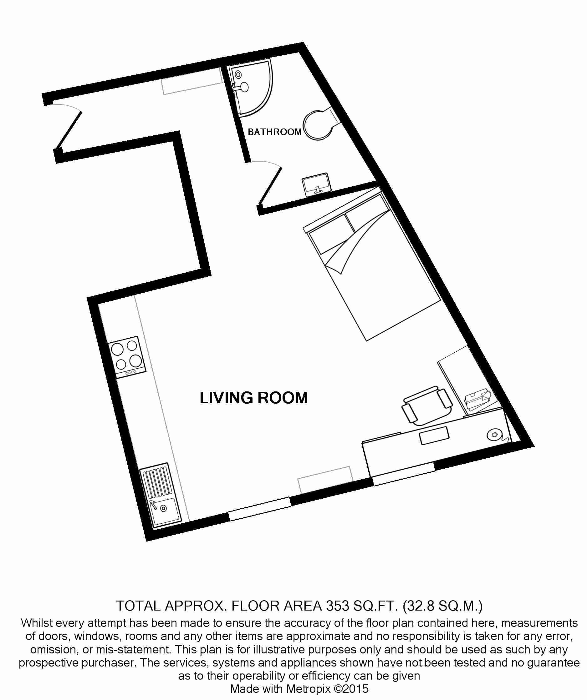 Flat Q, Park View, Nottingham Student House floorplans