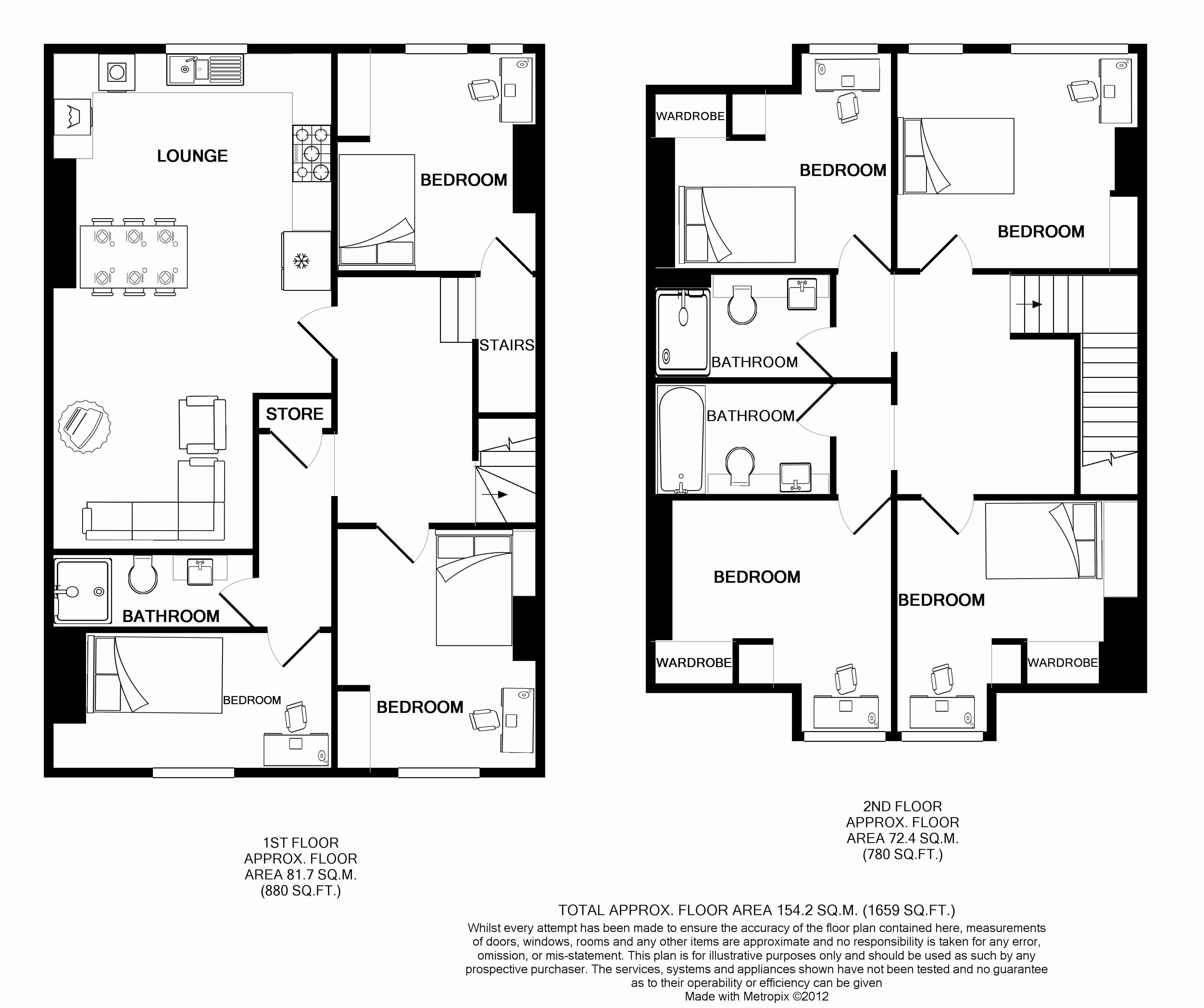Flat 2, 154 Woodsley Road Floorplans