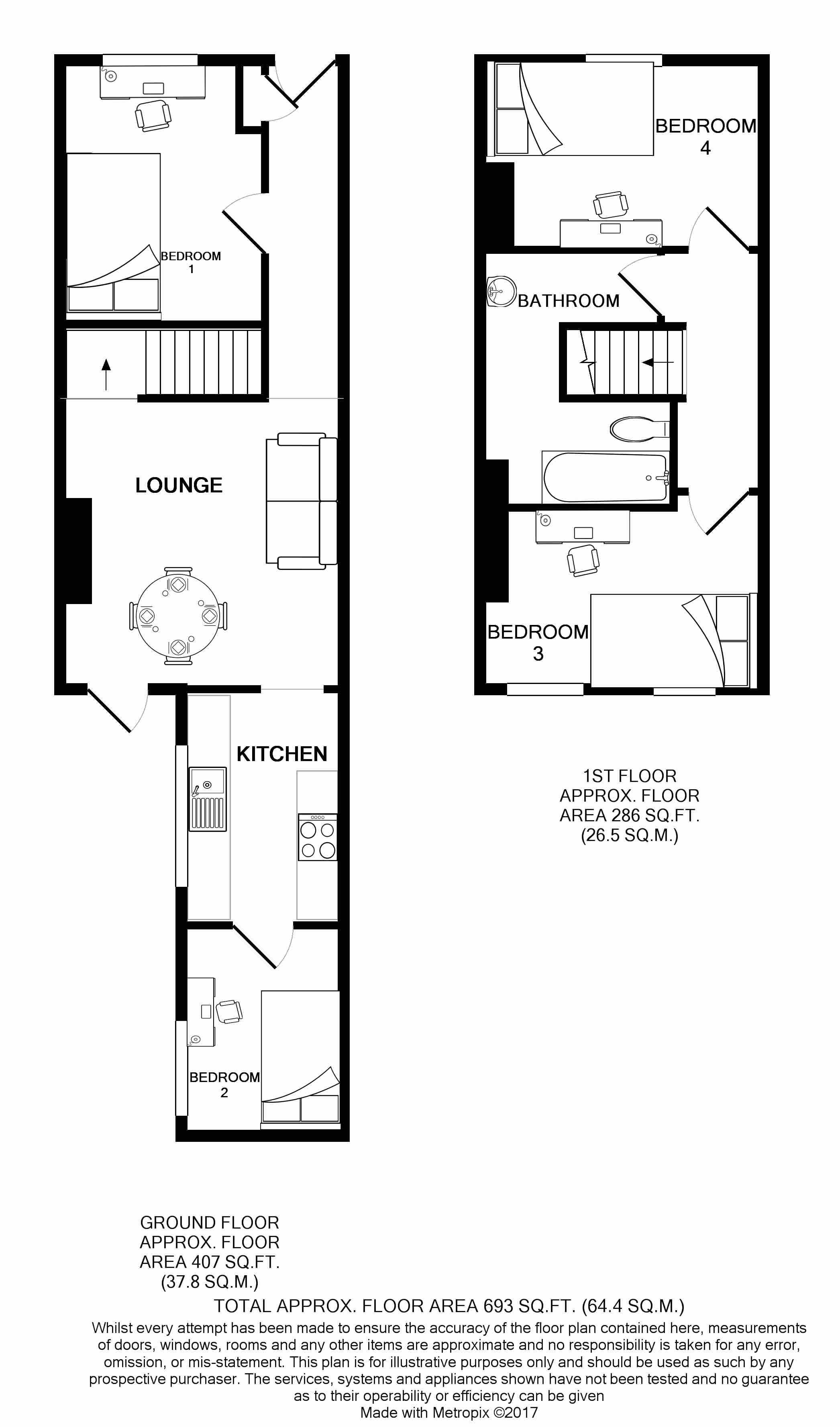 125 Ashford Street Floorplans