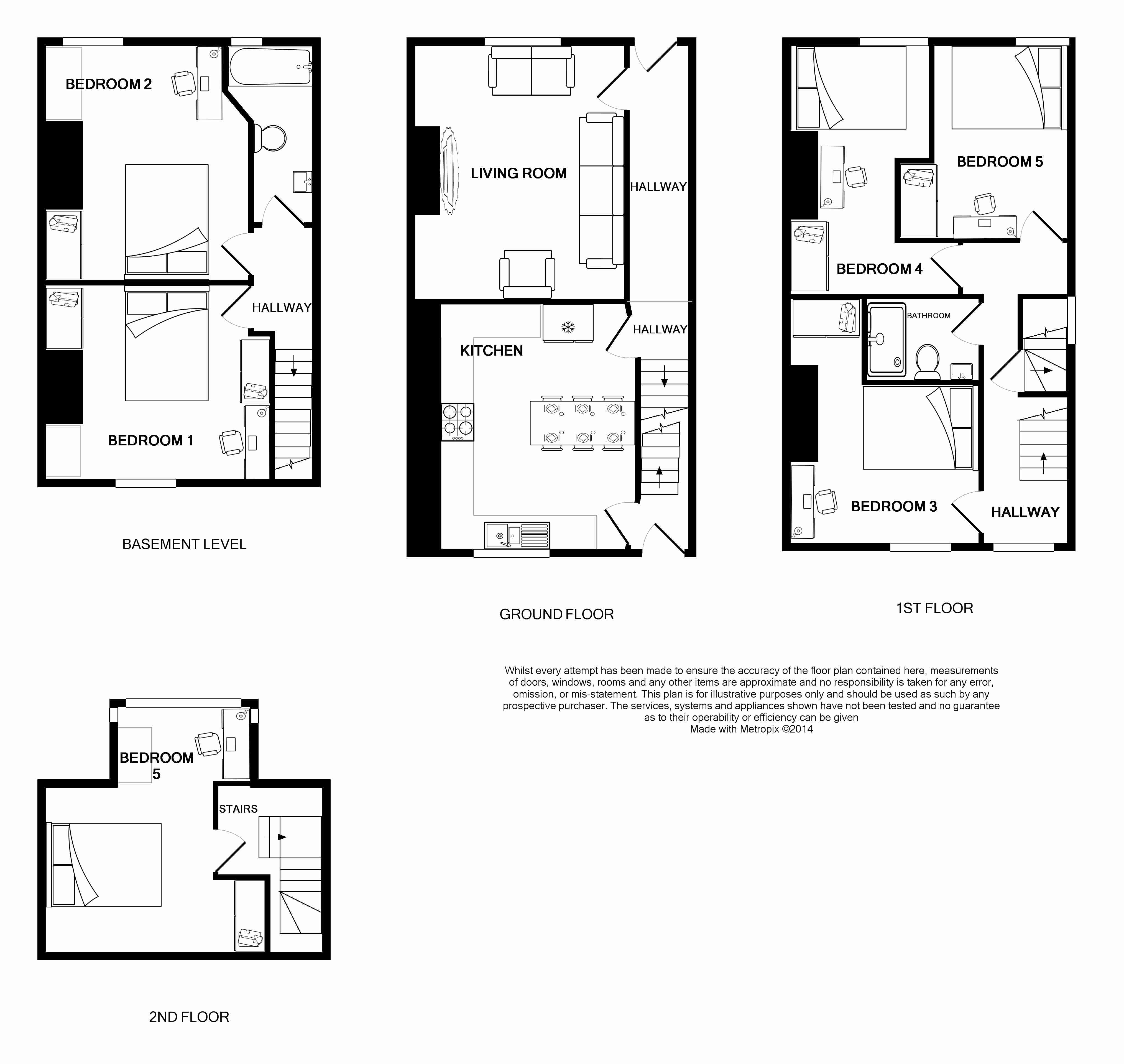 145 Hyde Park Road, Leeds Student House floorplans