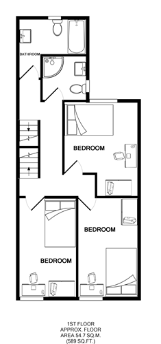 62 Haxby Road, York Student House floorplans