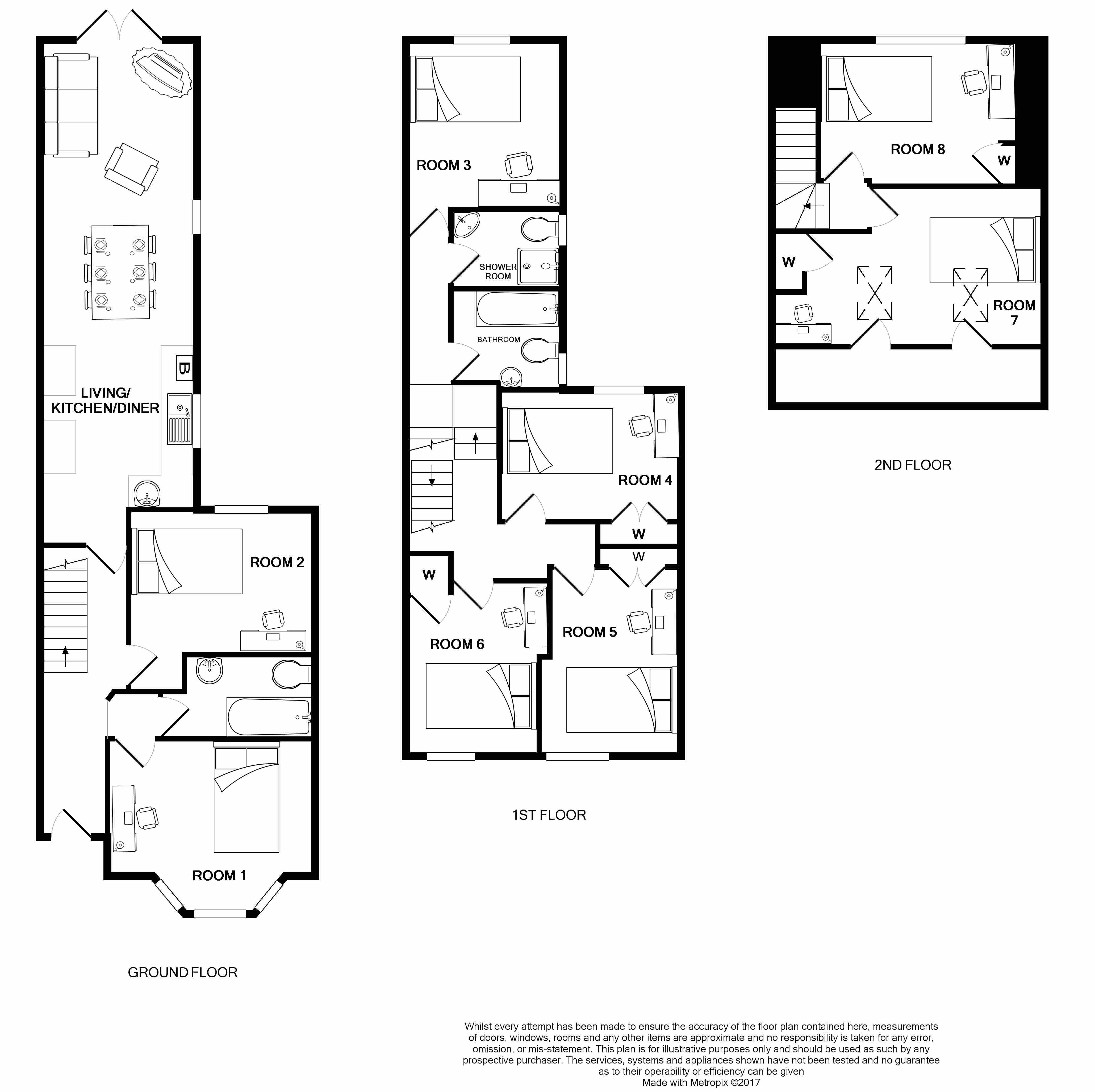 9 Llantwit Street Floorplans