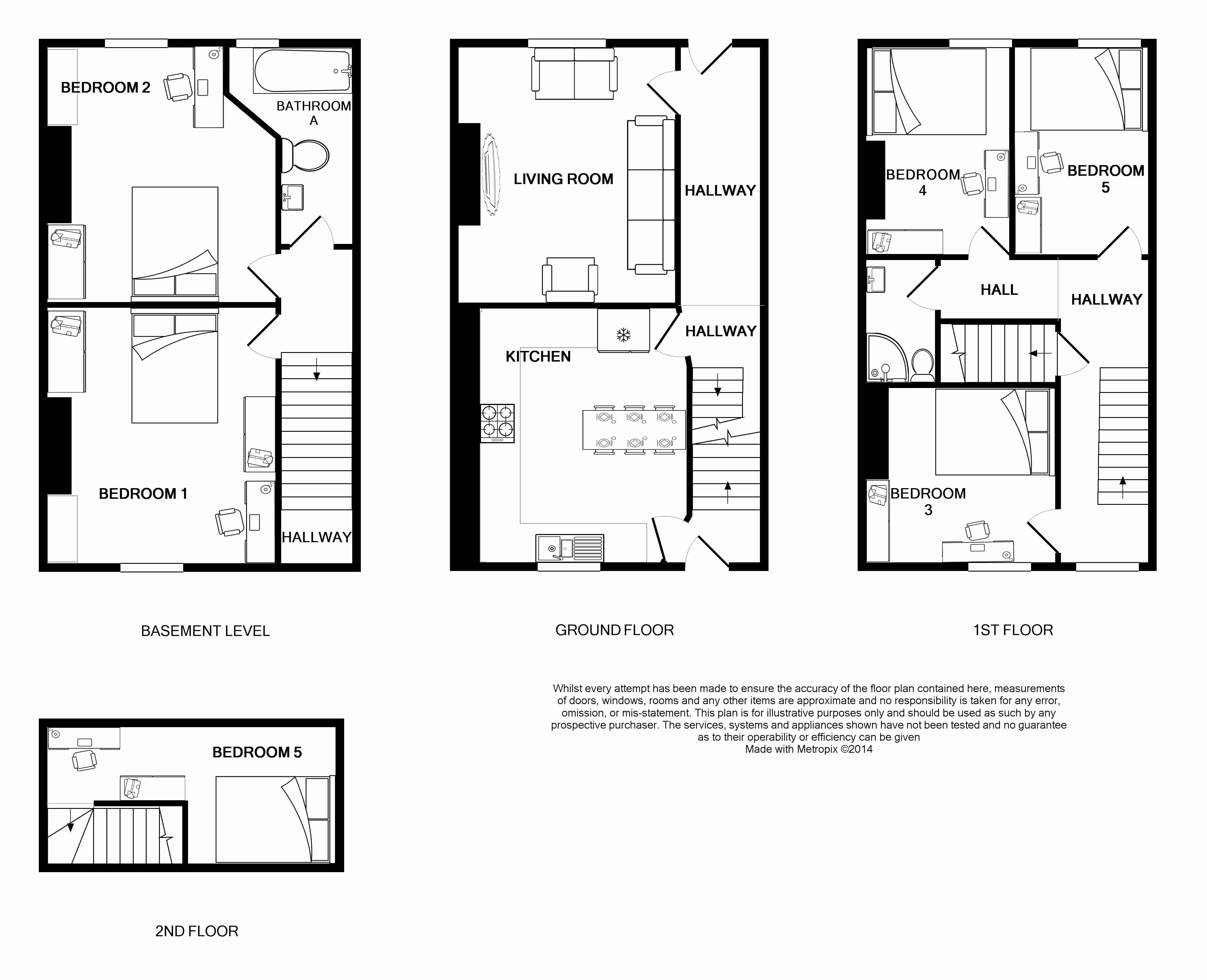139 Hyde Park Road, Leeds Student House, Floorplans