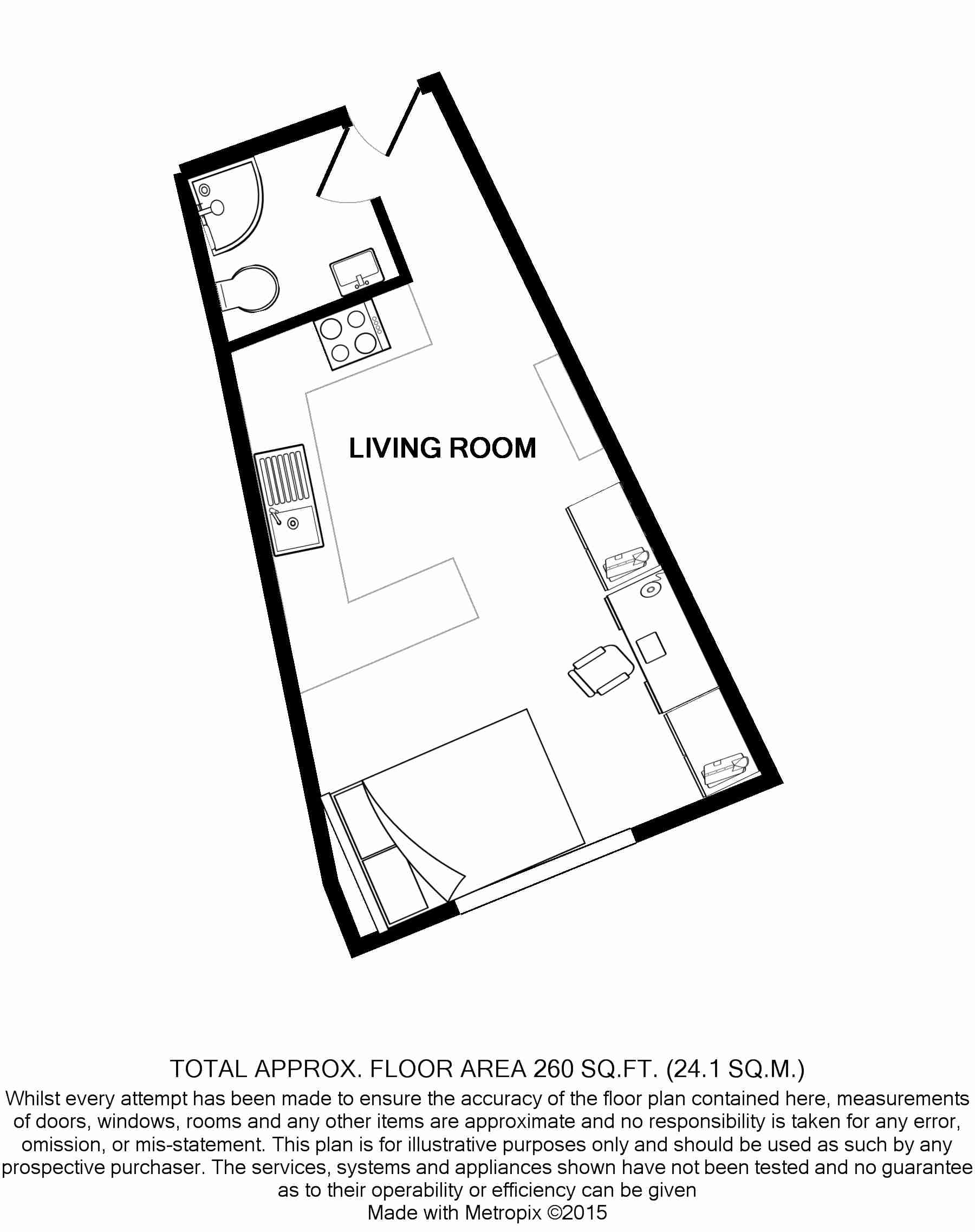Flat L, Park View, Nottingham Student House, Floorplans