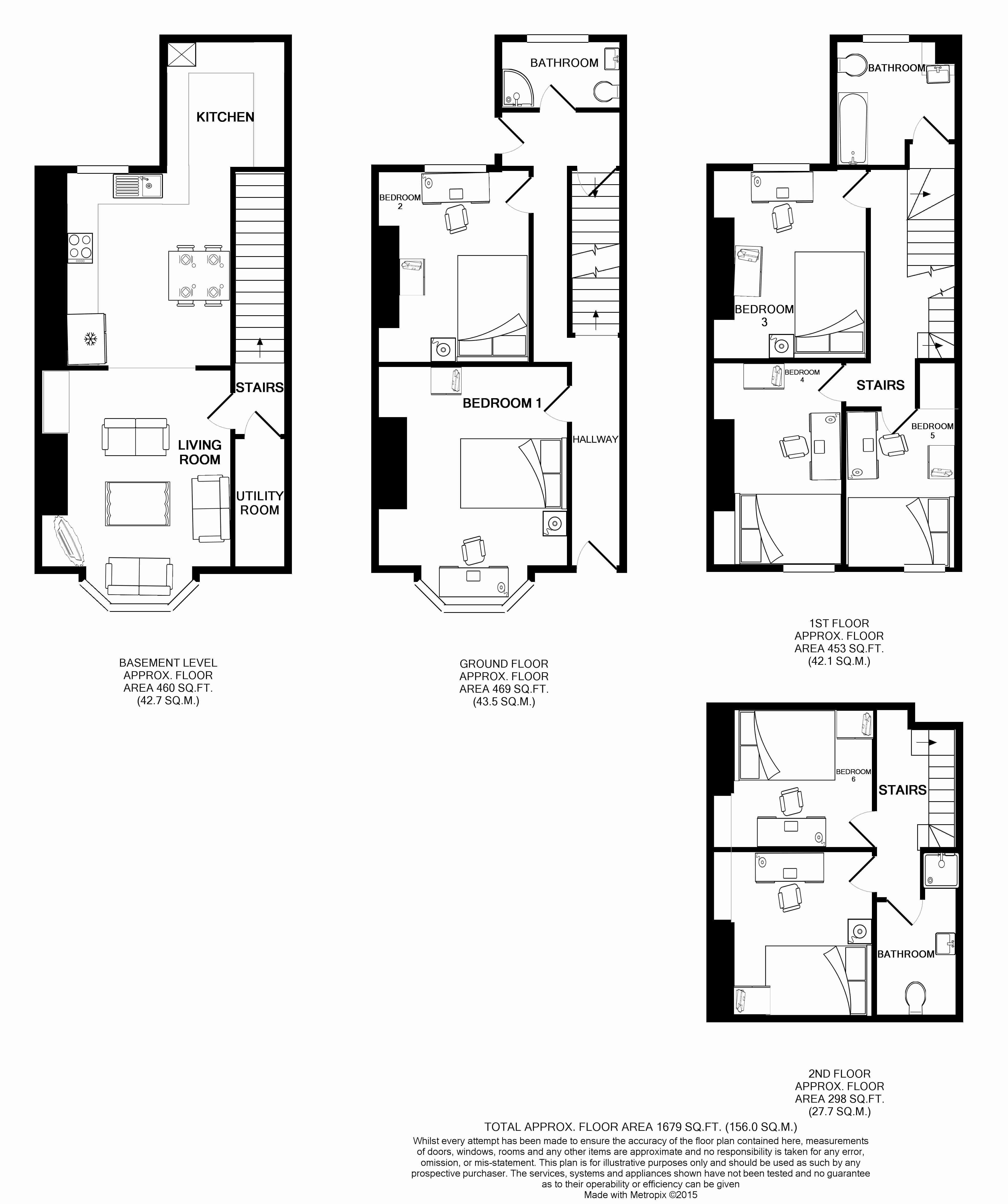 10 Brudenell Mount, Leeds Student House floorplans