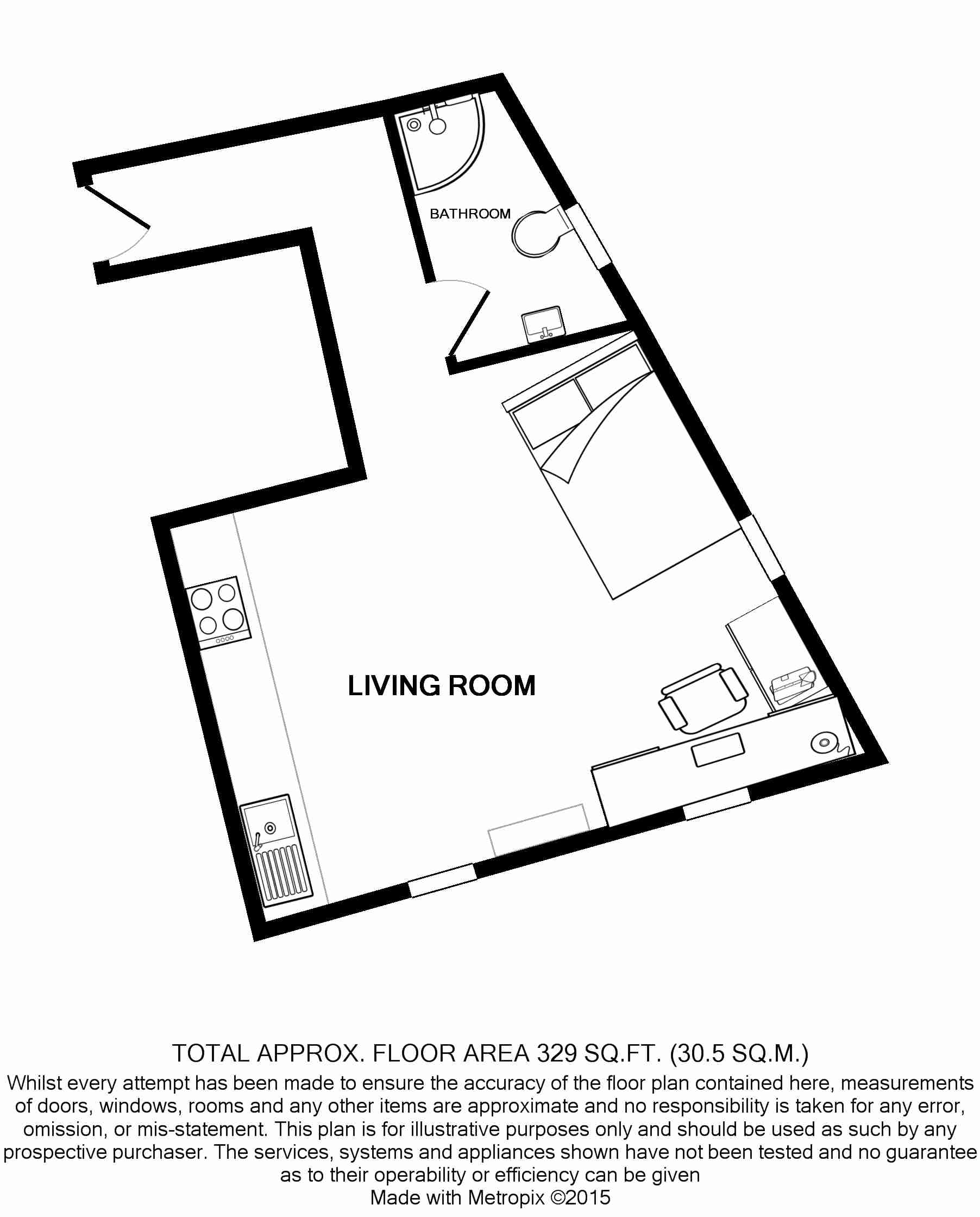 Flat U, Park View, Nottingham Student House, Floorplans