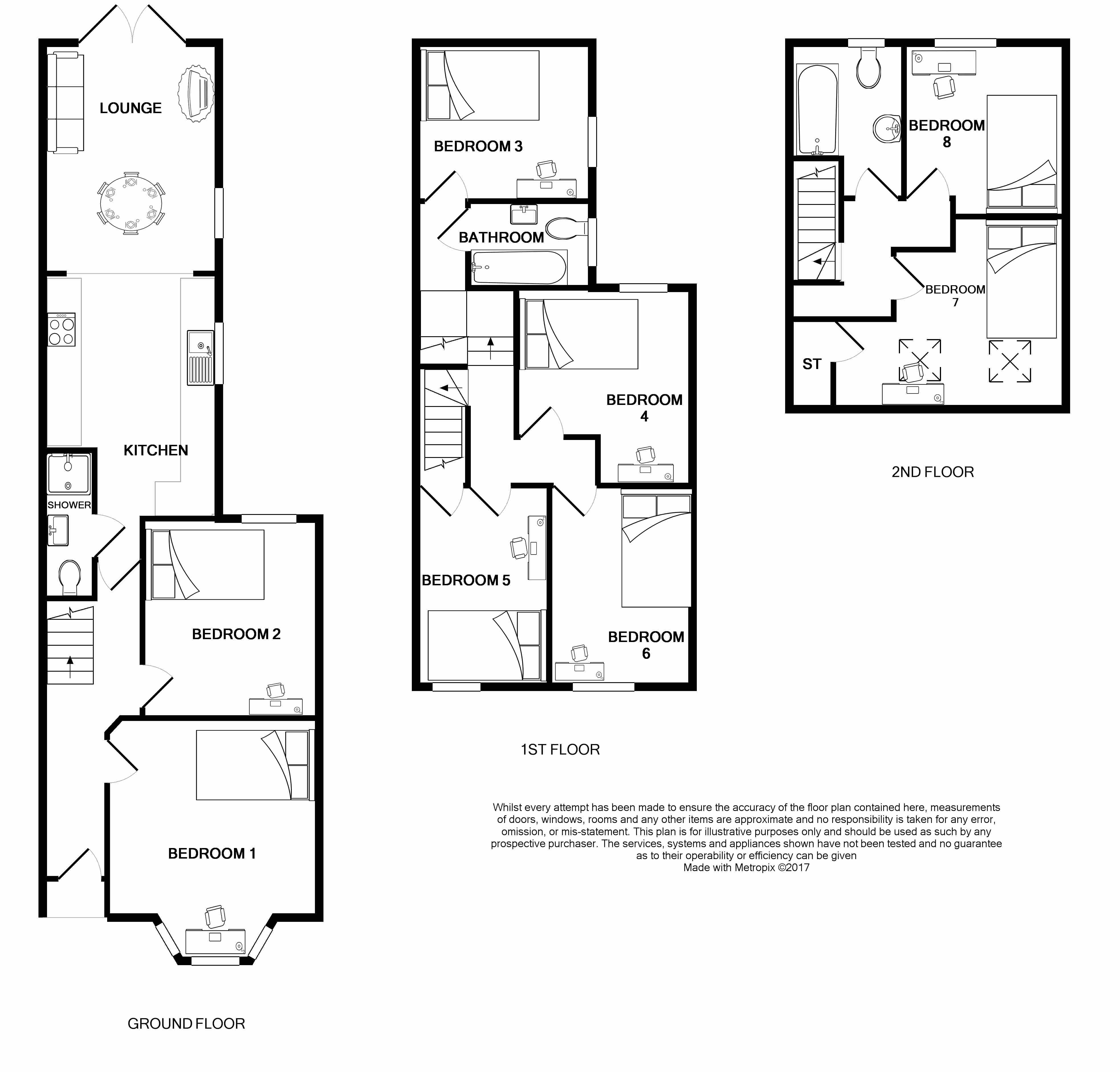 21 Harriet Street Floorplans
