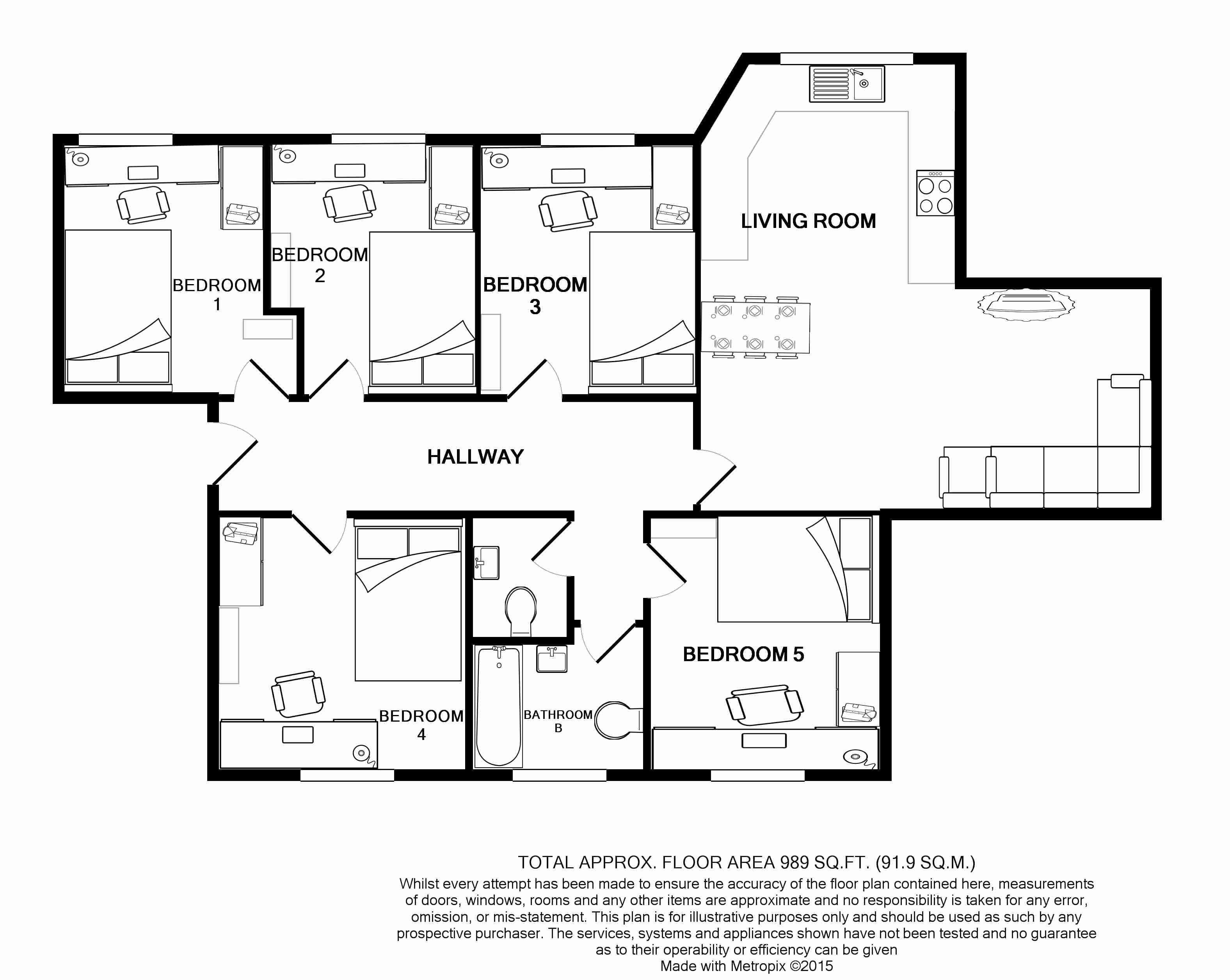Flat G, Park View, Nottingham Student House, Floorplans