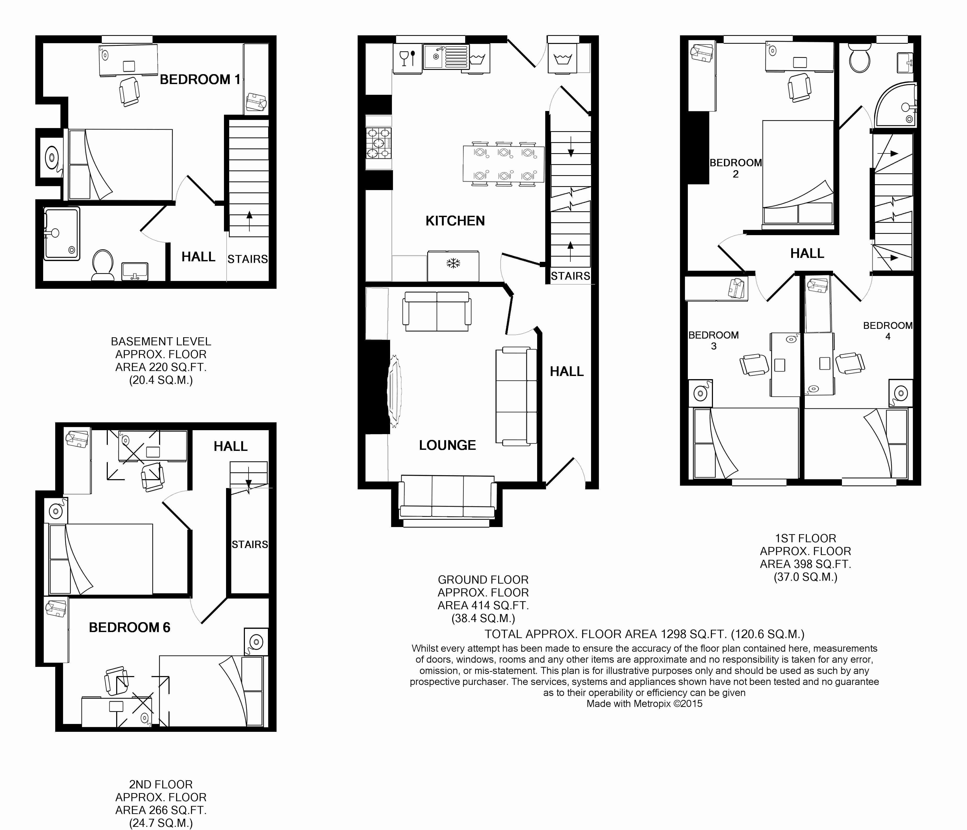 13 Hessle Terrace, Leeds Student House Floorplans