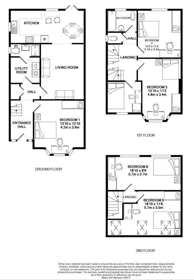 9 Kenilworth Avenue, Oxford Student House, Floorplan