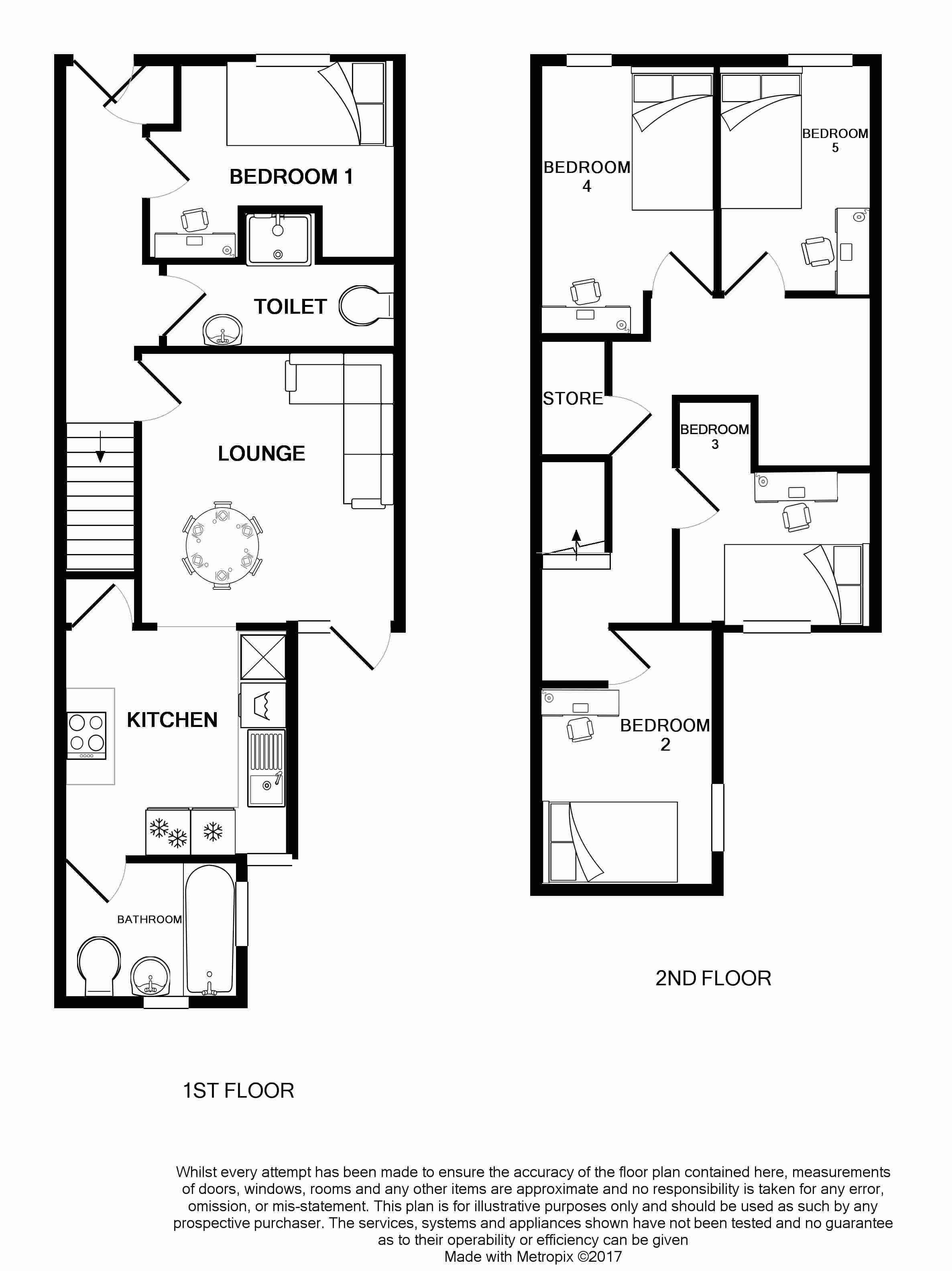 17 Ashford Street Floorplans