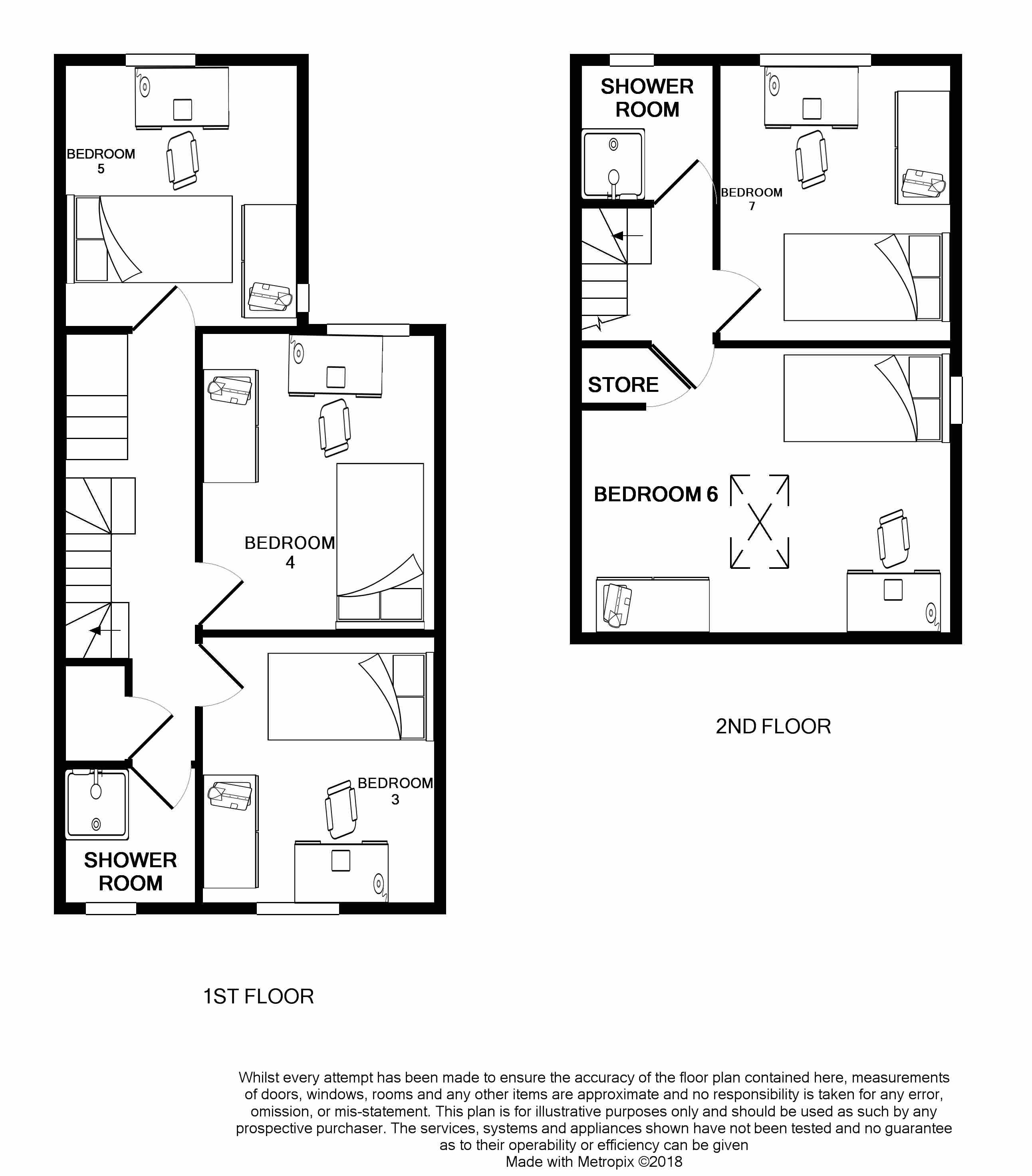 First and second floor plan