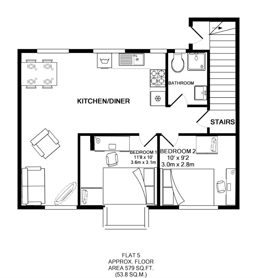 Flat 5, Victoria Court Mews, Leeds plan