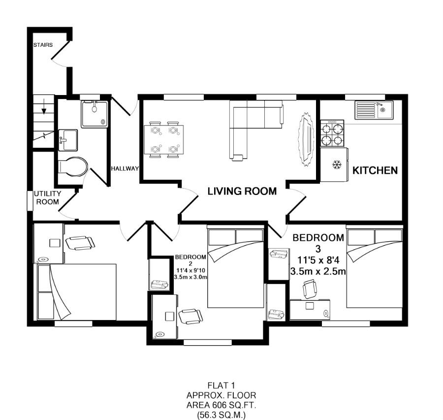 Flat 1, Victoria Court Mews, Leeds plan