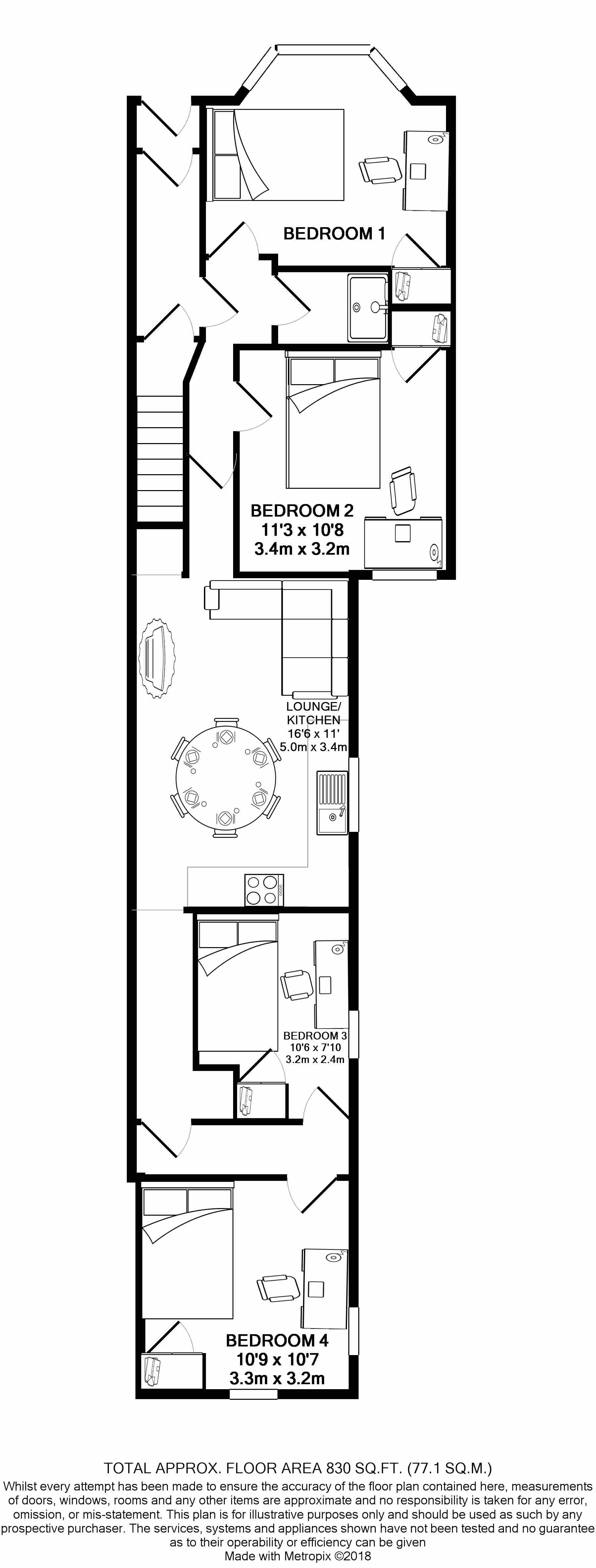 49a Colum Road - floorplans