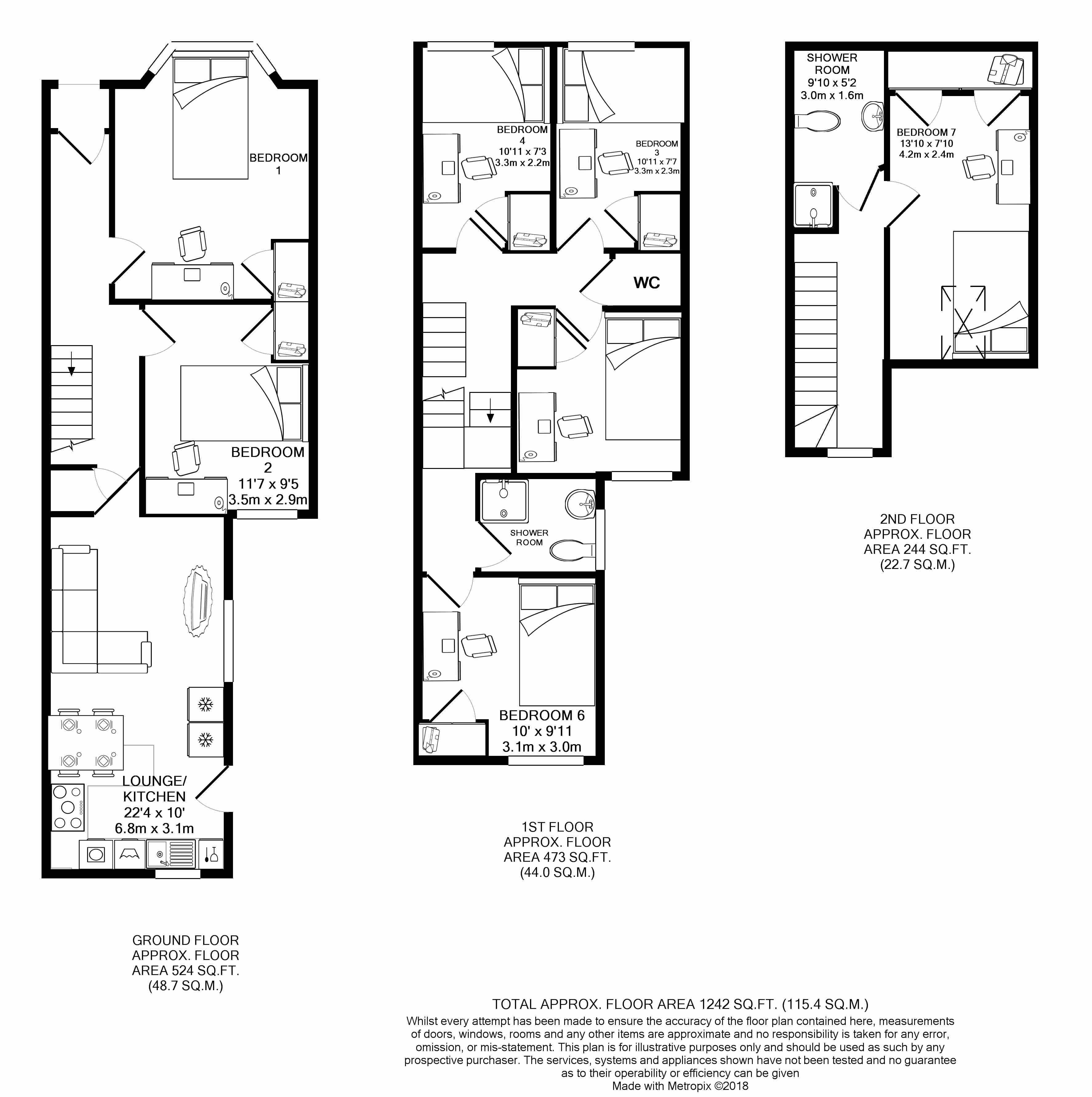41 Glenroy Street -floorplans