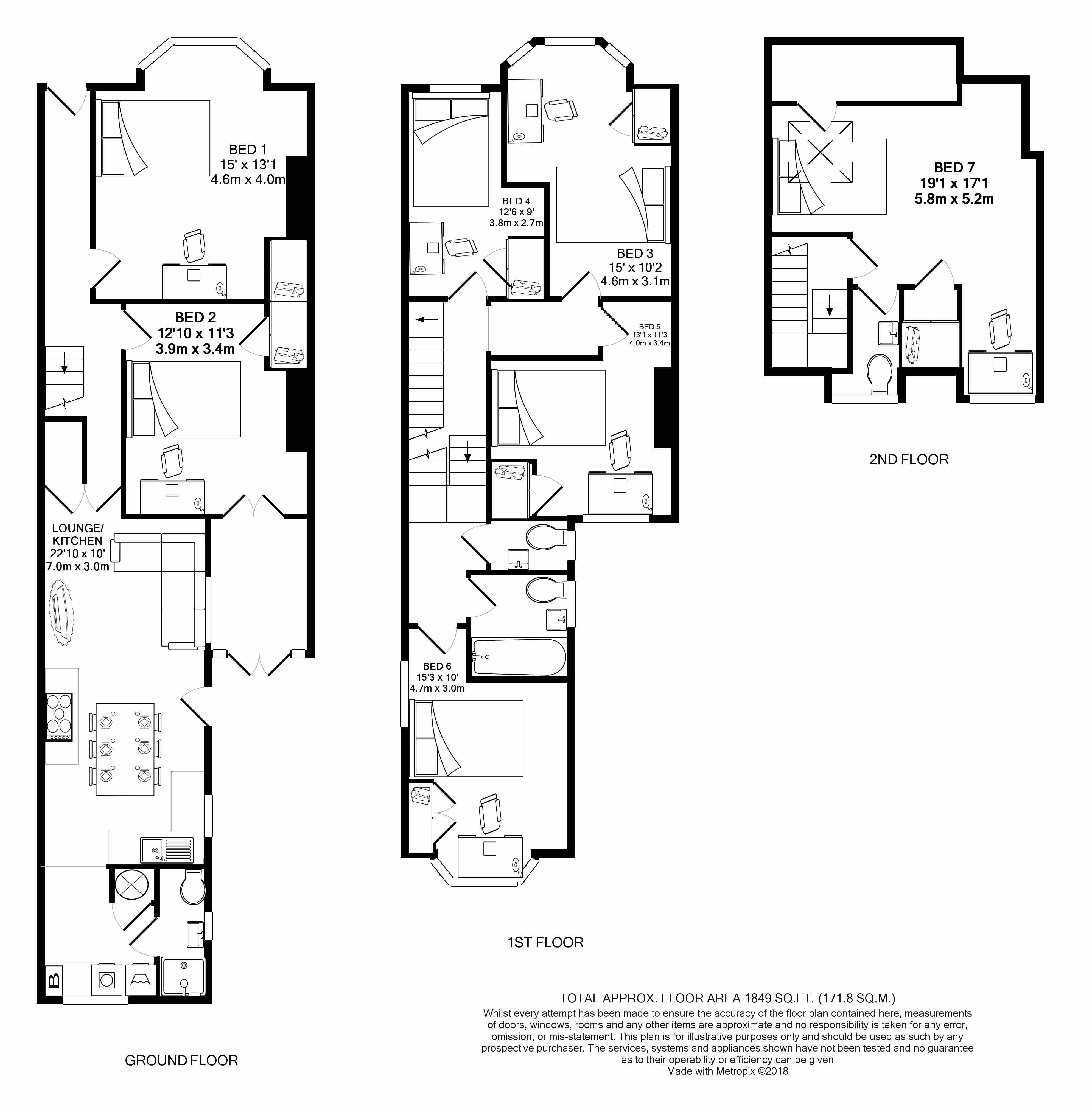 50 Pinhoe Road - floorplans