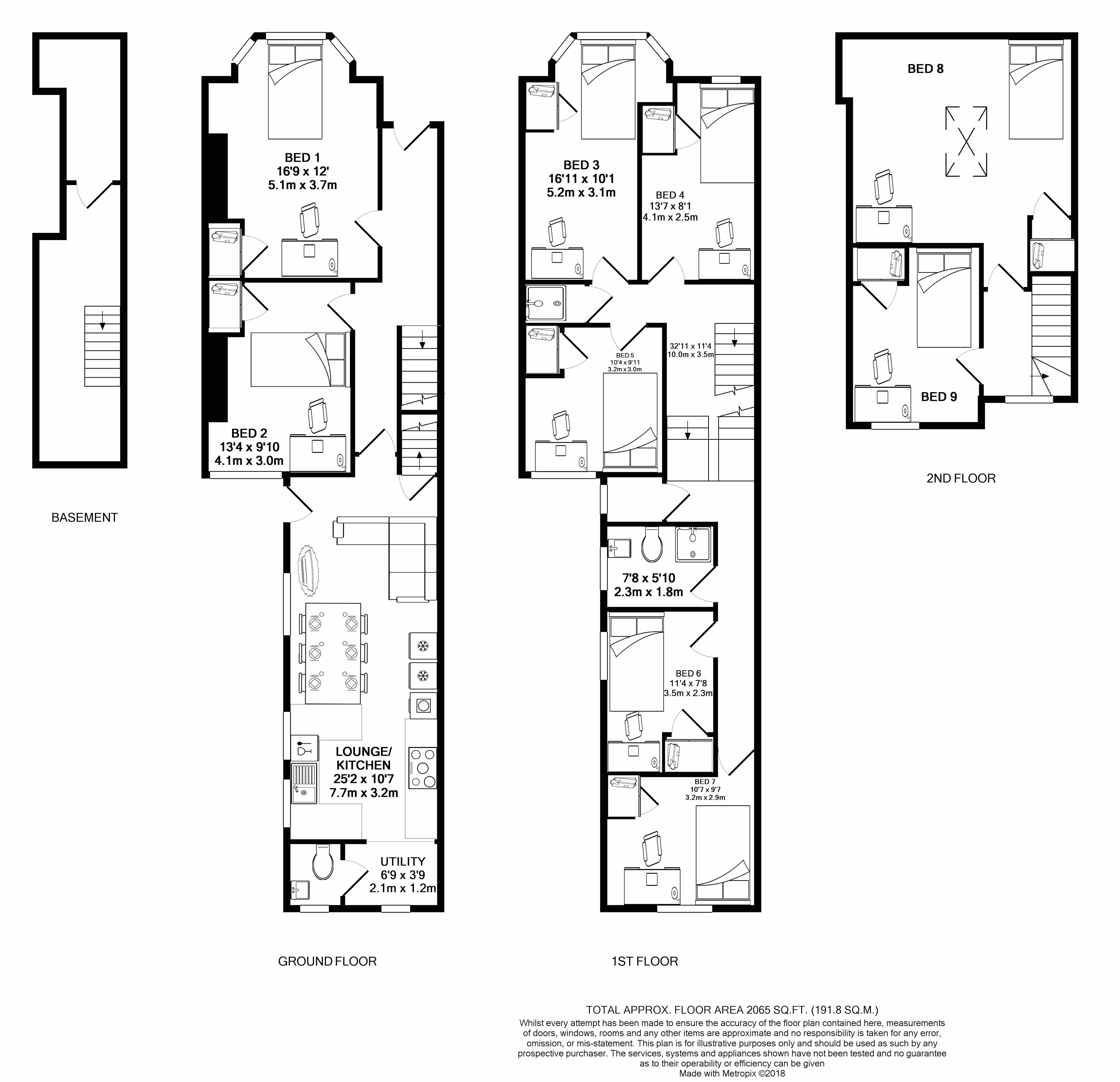 95 St Andrews Road - floorplans