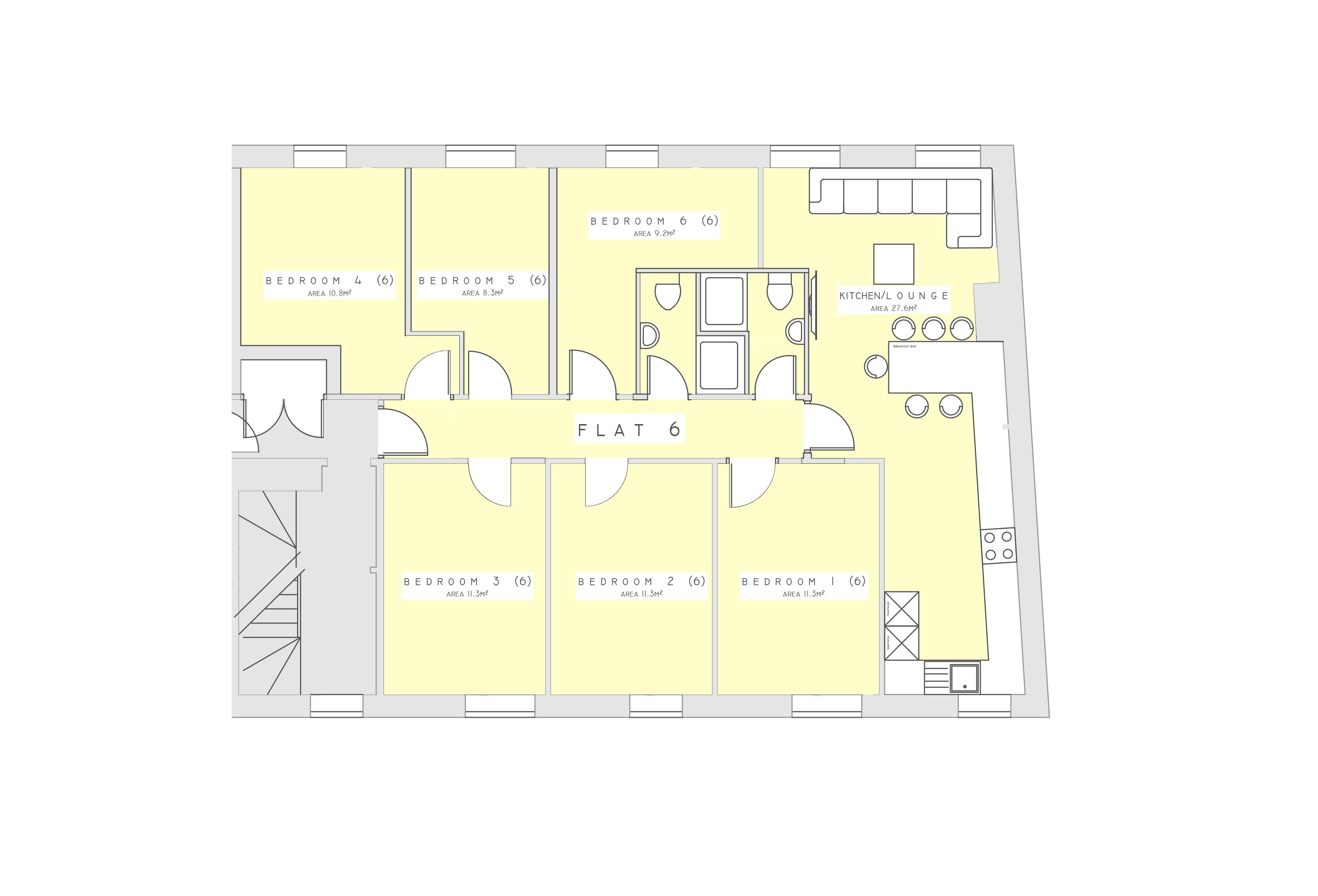 Flat 6 Floorplan