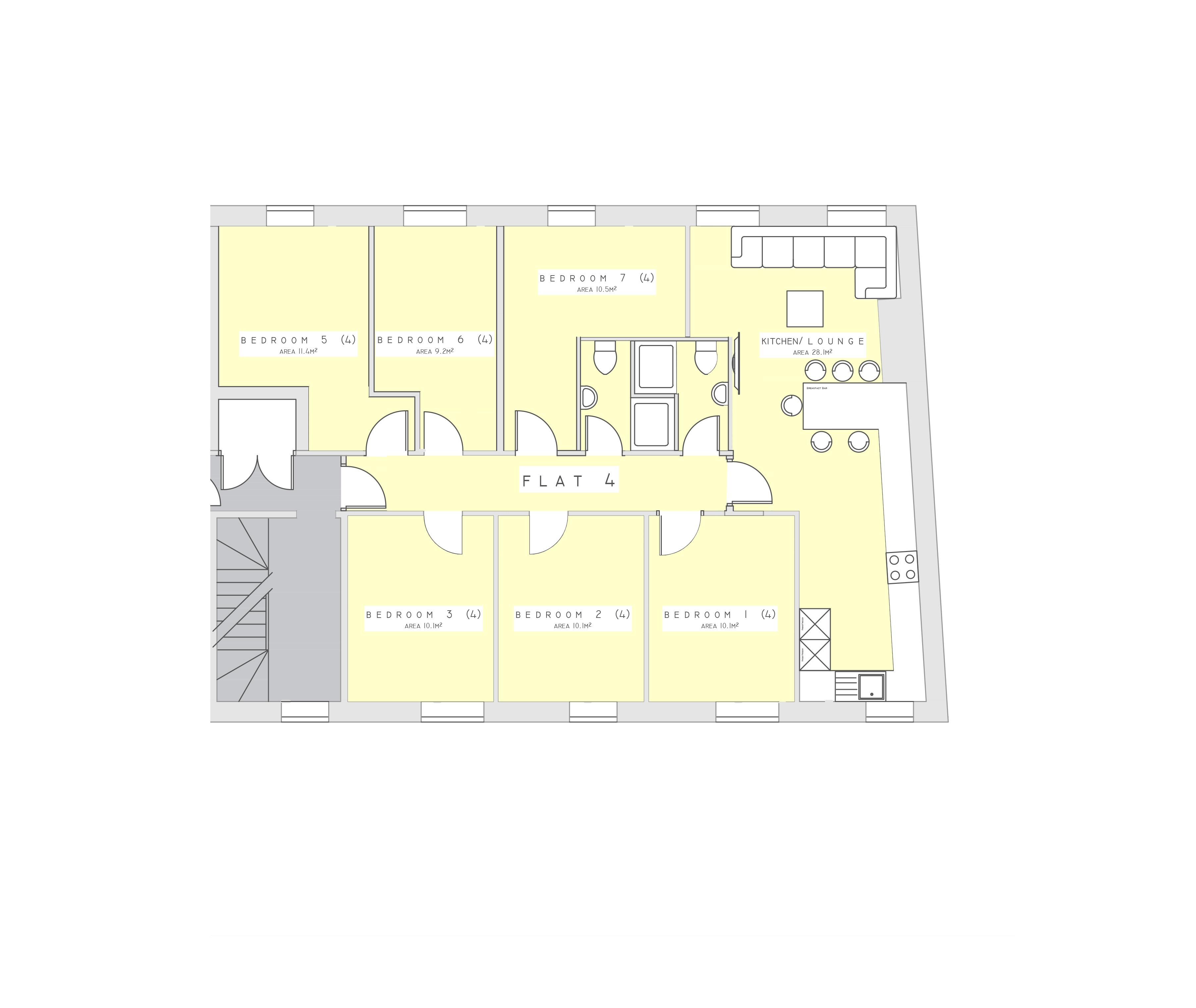 Flat 4 Floorplan