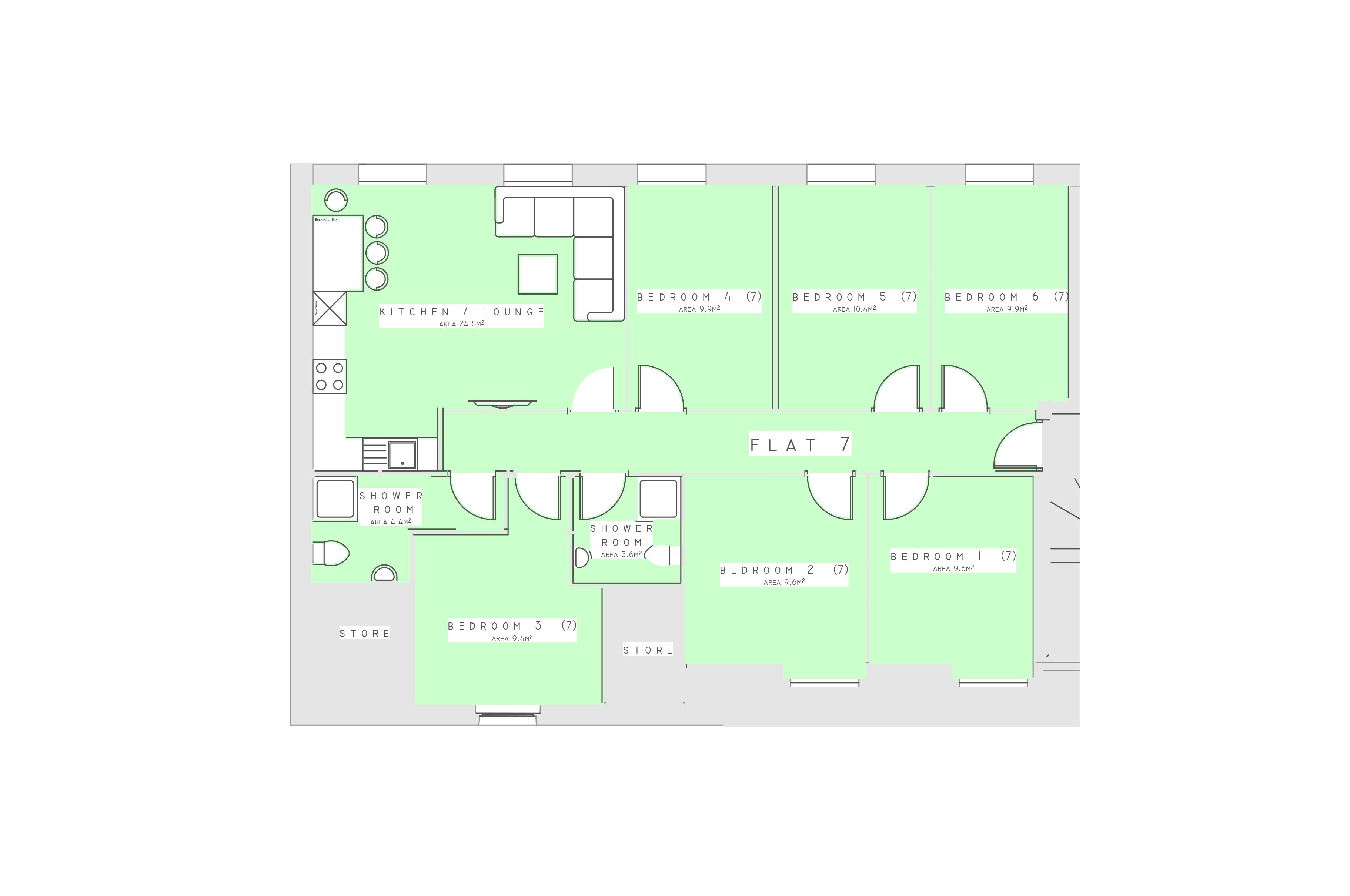 Flat 7 Floorplan
