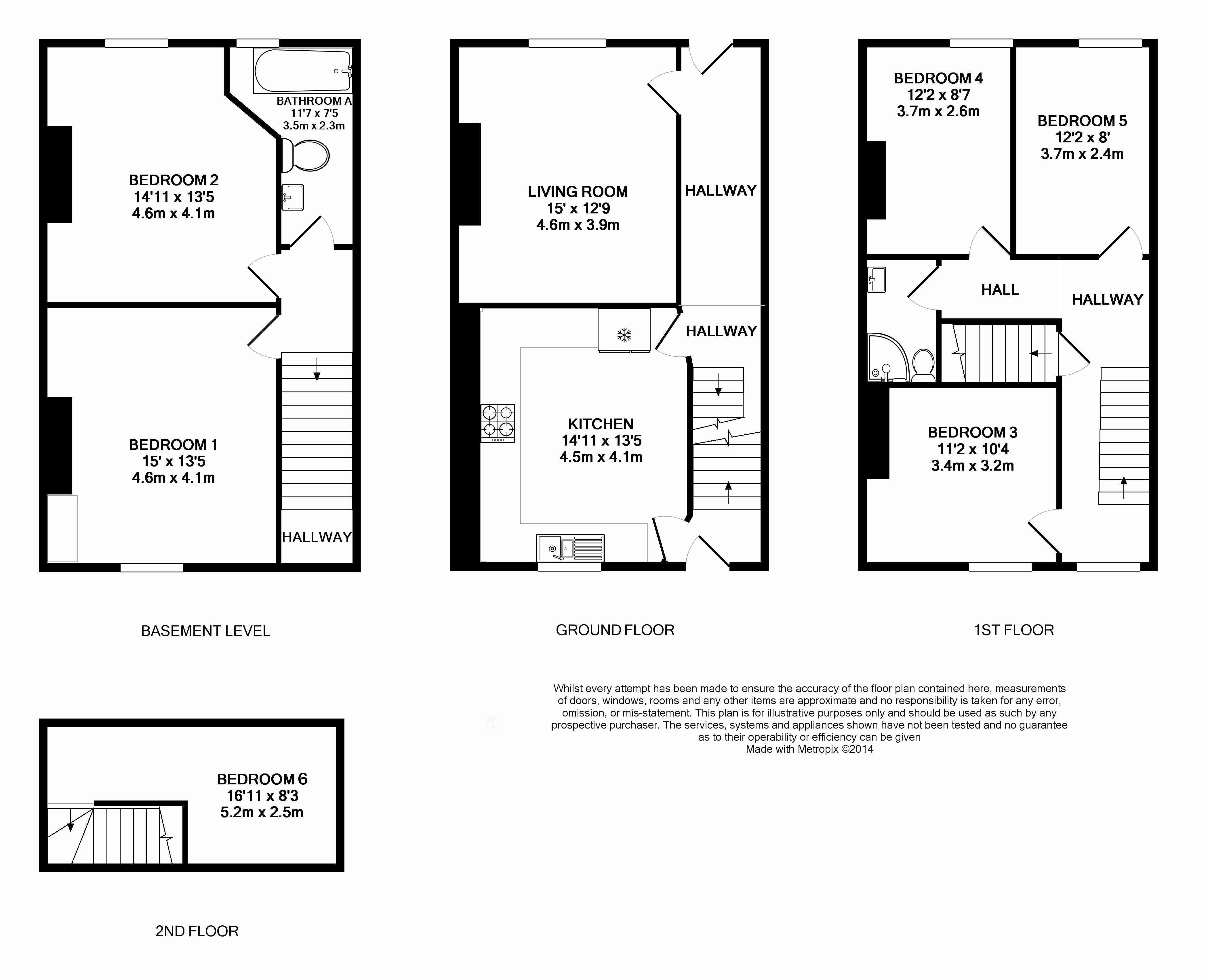 139 Hyde Park Road, Leeds Student House, Floorplans